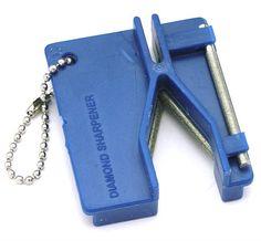 "Diamond Knife Sharpener 3-Way Diamond Knife and Scissor sharpener Dimensions: 2-3/8""x2"""