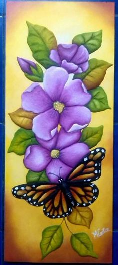 Painting fabric art beautiful 30 Ideas for 2019 China Painting, Tole Painting, Fabric Painting, Fabric Art, Butterfly Art, Flower Art, Butterflies, Flower Patterns, Flower Designs