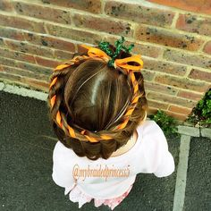 """countdown to 'Halloween' 'hairstyles'. Today a pumpkin twist inspired by Pinterest """