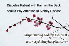 Diabetes patient with pain on the back should pay attention to Kidney Disease, that may indicate your disease is going to Kidney Failure. Then as a Diabetic how can you know whether you've got kidney disease or not ?