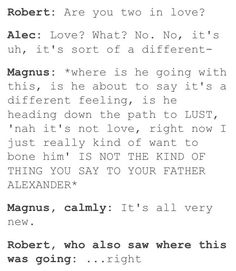 Alec, Alec, Alec~ There are some things better left unsaid in front of your father~ ☆⌒(≧▽​° )
