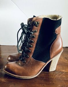 Sam Edelman Tara Two Toned Black Brown Lace Up Lined Ankle Boots Booties Sz 6 Bootie Boots, Ankle Boots, Alchemy, Black And Brown, Lace Up, Booty, Best Deals, Shoes, Ebay