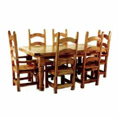 Santa Paula Rustic Pine 7-pc Dining Set - DRASG3001SP-SET - http://www.barnfurnituremart.com/product_details.aspx?id=DRASG3001SP-SET