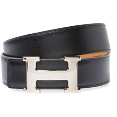 Hermès Women's Vintage Hermès Black Leather Constance Belt - Black (1 200 AUD) ❤ liked on Polyvore featuring accessories, belts, black, hermès, vintage belts, vintage leather belt, 100 leather belt and real leather belts