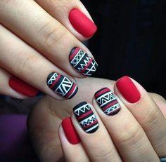 Картинка с тегом «nails, red, and black»