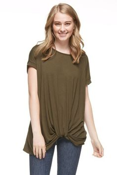 FRONT TWIST TUNIC TOP