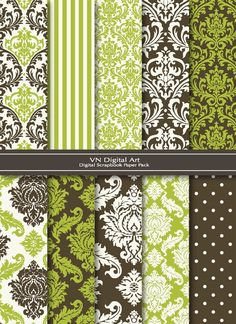 3 of my VERY favorite patterns: stripes, damask, dots. Only thing missing for me is paisley!