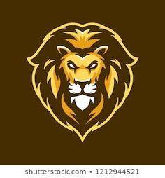 Stock Photo and Image Portfolio by slabdsgn Lion Head Tattoos, Lion Tattoo, Beast Logo, Logo Free, Lion Illustration, Game Logo Design, Esports Logo, Lion Logo, Joker Art