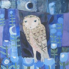 Owl in the Moonlight by SharonMarieWinter on Etsy