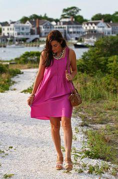 9cd49725394 Dress  Calypso Sandals  Dolce Vita (similar) Bag  Tory Burch Necklaces