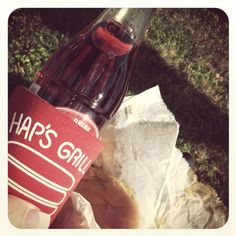 What makes Salisbury NC cool? Hap's cheeseburger 'all the way' and a cold Cheerwine!