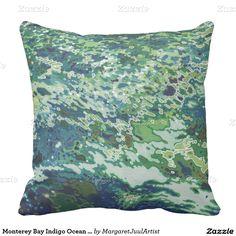 Monterey Bay Indigo Ocean wave Decor Pillow Juul