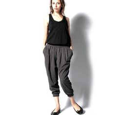 Pintuck Pant Shadow Gray, $99, now featured on Fab.