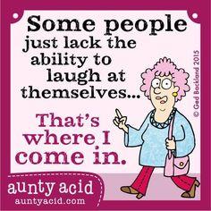 I'm over here  #AuntyAcid
