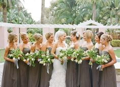LOVE! long gray bridesmaid dresses