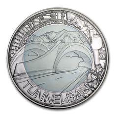 2013 Austria €25 silver/niobium Tunnelbau.