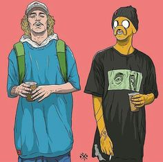Geek Discover Jake the dog and Finn the human But they& all human Adventure Time! Adventure Time, Arte Dope, Dope Art, Dope Kunst, Stoner Art, Supreme Wallpaper, Dope Wallpapers, Hypebeast Wallpaper, Cartoon Art