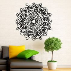 Wall Decal Mandala Indian Pattern Vinyl Stickers by BestDecalsUSA