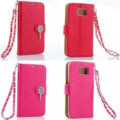 Rose Pattern Fashion Luxury Leather Flip Case For Samsung Galaxy S6 G920F Rhinestone Wallet Card Holder Cover For Galaxy S 6