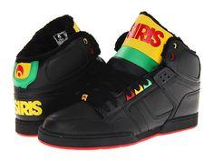 Osiris NYC83 SHR Black/Yellow/Rasta - 6pm.com