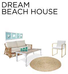 """Beach house"" by sarahshapiro71 ❤ liked on Polyvore featuring interior, interiors, interior design, home, home decor, interior decorating, Shoreline and Nuevo"