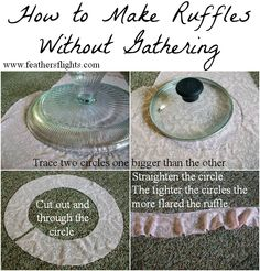Sewing 101 - How to Make Ruffles Without Gathering