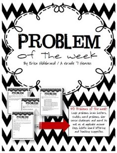 Problem of the Week is all about challenging our students to use their higher order thinking skills and make meaningful inferences and connections with strategies and calculation methods they already have. The emphasis is on HOW we get an answer not only on getting the right answer. 50 weekly problems, bulletin board lettering,  and an answer key included!