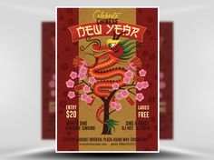 Illustrated Chinese New Year Flyer Template 2 - FlyerHeroes