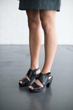 adba70e24d 439 ulla super high black veggie - clogs   sandals Clog Sandals