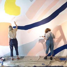 Mural painting for my first solo show this time last year! What a rollercoaster of emotion that was! Hopefully will get to do it all again… Mural Painting, Mural Art, Wall Murals, Wall Art, Room Decor, Wall Decor, Paint Designs, Wall Design, Backdrops
