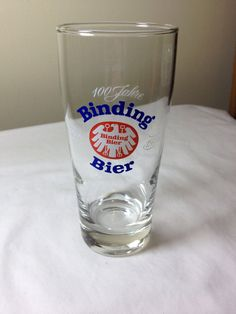 Binding Bier .2L beer glass 1870-1970 100 Jahre by ugliducklings