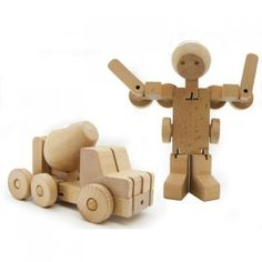 Fabulous wooden transformer from robot to cement truck in a couple of quick, swift moves.
