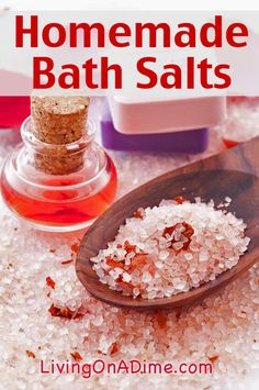 Homemade Bath Salts Recipe - Just 4 Ingredients!