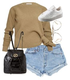 """Untitled #3210"" by angieswardrobe ❤ liked on Polyvore featuring Puma, Chanel and CÉLINE"