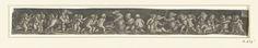 Heinrich Aldegrever | Fries met kinderen die beren vangen, Heinrich Aldegrever, 1535 | Fries met een grote groep naakte kinderen met lansen drie beren vangen.