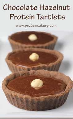 Chocolate Hazelnut Protein Tartlets - Andréa's Protein Cakery high protein recipes, low carb, gluten free