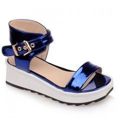 Trendy Solid Colour and Wedge Heel Design Women's Sandals #>=#>=#>=#>=#> Click on the pin to check out discount price, color, size, shipping, etc. Save and like it!