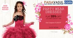 Firstcry Offers: Flat 25% off on kids Party Wear Dresses  http://www.paisavasul.com/code/firstcry-offers-flat-25-off-on-kids-party-wear-2
