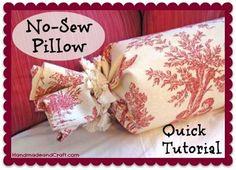diy throw pillows no sew   No Sew Pillow Tutorial - DIY Decor on HandmadeandCraft.com