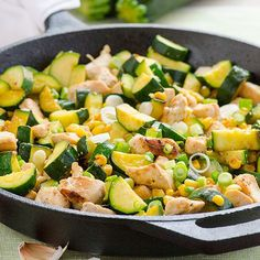 Garlic Chicken, Zucchini and Corn