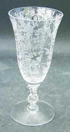 Rose Point or Rosepointe etched crystal...my paternal Grandmother's pattern <3