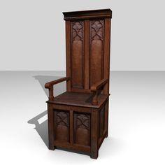 Wood Medieval Throne