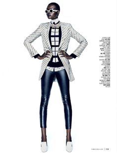 MARIE CLAIRE SOUTH AFRICA 2015 | Marie Claire Africa do Sul | Editorial de Moda Abril 2013 | Aluad Deng ...