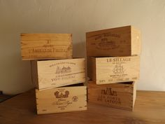 wine boxes to style your wedding or for flowers for the tables