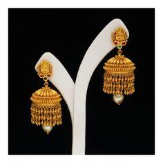 Gold Lakshmi Earrings (108A47759) | Vummidi Bangaru Jewellers