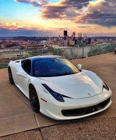 White Ferrari 455