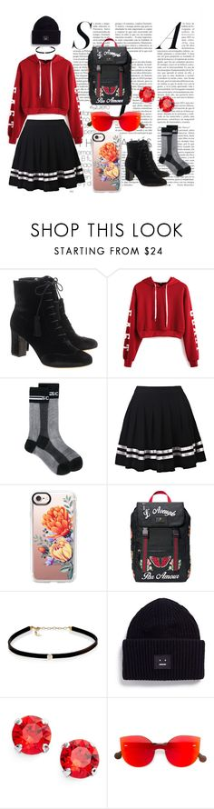 """""""tough girl"""" by oohkiyo on Polyvore featuring Tabitha Simmons, WithChic, GCDS, Casetify, Gucci, Carbon & Hyde, Acne Studios, L. Erickson, RetroSuperFuture and girly"""