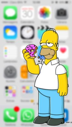 The Simpsons Homer Simpson Simpson Wallpaper Iphone, Wallpaper Iphone Cute, Cute Wallpapers, Lit Wallpaper, Apple Wallpaper, Wallpaper Backgrounds, Homer Simpson, Video Simpson, Walpaper Iphone