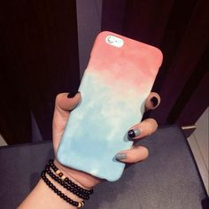 Diy phone cases 717127940634904856 - Colorful Gradient Case For iPhone 6 Case For Apple iphone Plus 5 Cute Sweet Candy Color Phone Case Back Covers Source by elegantonline Apple Iphone 6s Plus, Iphone 6 S Plus, Art Phone Cases, Diy Phone Case, Iphone Phone Cases, Iphone Case Covers, Capas Samsung, Accessoires Iphone, Aesthetic Phone Case