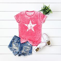 womens of july shirt fourth of july shirt of july shirt memorial day shirt patriotic shirt stars and stripes shirt merica tee by Fourth Of July Shirts, 4th Of July Outfits, Patriotic Shirts, Outfits For Teens, Summer Outfits, Cute Outfits, July 4th, Teenager Outfits, Unique Outfits